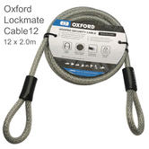 Oxford LK194 Lockmate Cable12|12 x 2.0m|Ideal for Use Security Marine Proof Lock