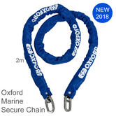 Oxford Marine Secure Chain 10mm SQx - 2meter|Ideal for Secure Watercraft