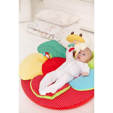 ELC Blossom Farm Gladys Goose Sit Me Up Cosy | Kids Soft Tummytime Play Mat | x3 Toy Thumbnail 7
