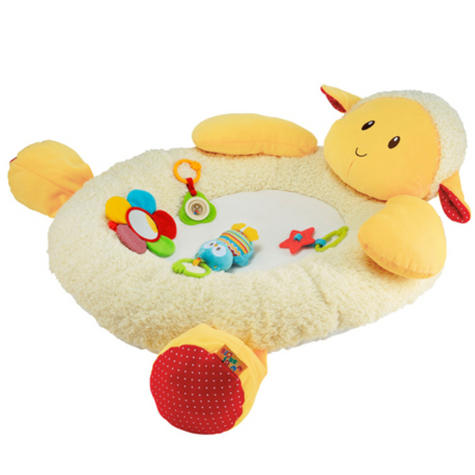 ELC Blossom Farm Snuggle Laurie Lamb Activity Gym | Kids Tummy Time Playmat+5 Toys Thumbnail 3