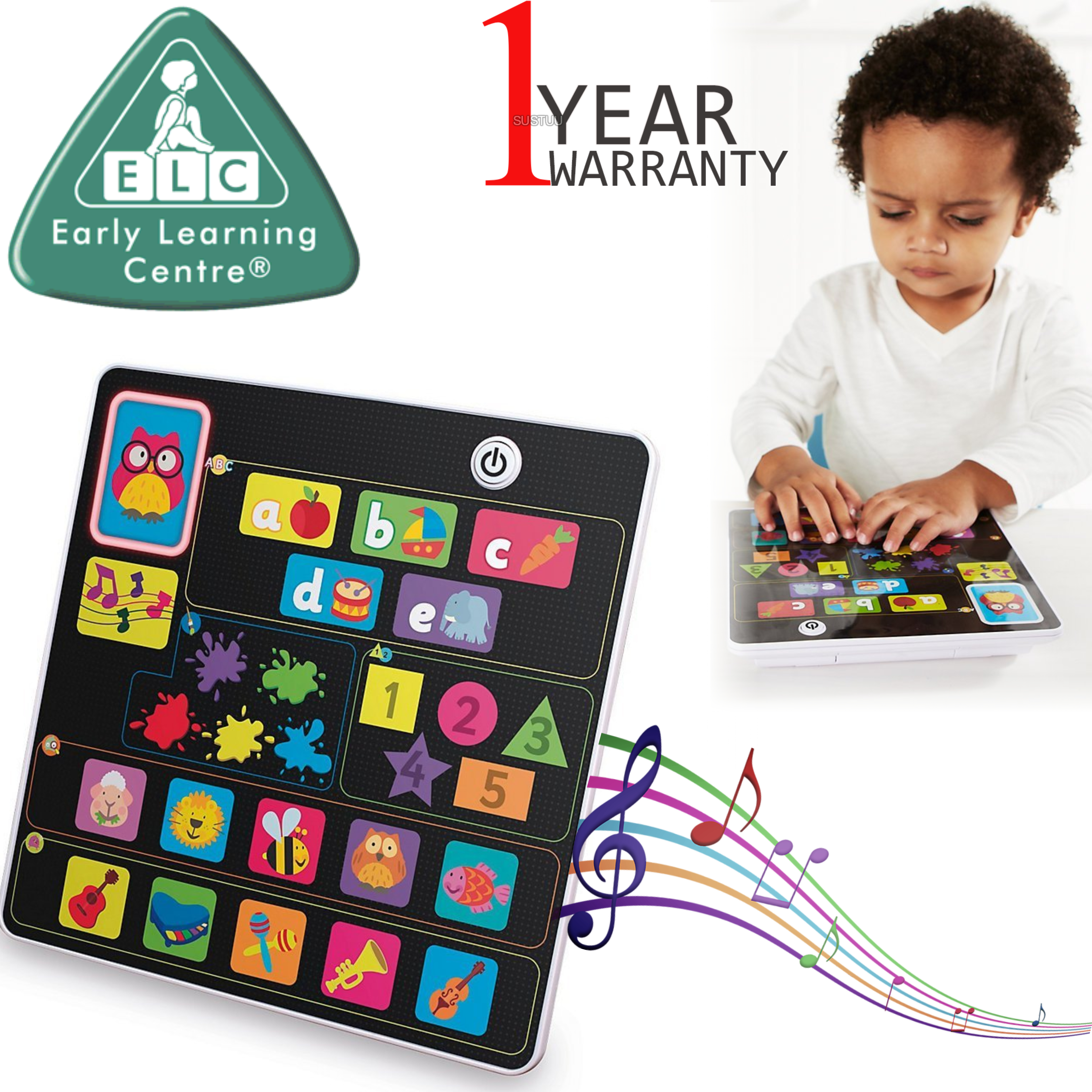 ELC Toddlers Tablet | Baby/Kids Touchpad Educational/Learning Activity Gift Toy