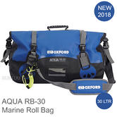 Oxford AQUA RB-30 Roll Bag|Fully Waterproof|Water Sports/ Marine|30 L|Black/Blue