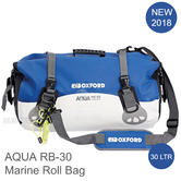 Oxford AQUA RB-30 Roll Bag|Fully Waterproof|Water Sports/ Marine|30 L|White/Blue