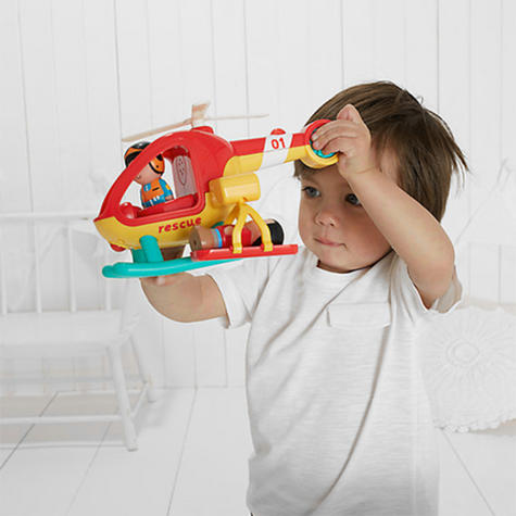 Early Learning Centre Happy Land Helicopter   Baby/ Kids Fun Toy With Light & Sound   +18 Months Thumbnail 4