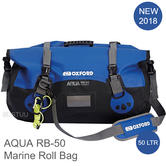 Oxford AQUA RB-50 Roll Bag|Fully Waterproof|For Water Sports/ Marine|50 L|Black/Blue