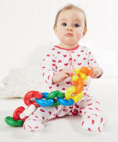 ELC Chain Like Link x12 | Kids Brightly Coloured Chunky Toy Can Also Use As Teether Thumbnail 3