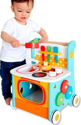 Early Learning Centre Wooden Kitchen Walker | Baby/ Kids Learning Activity Toy | +12m Thumbnail 2