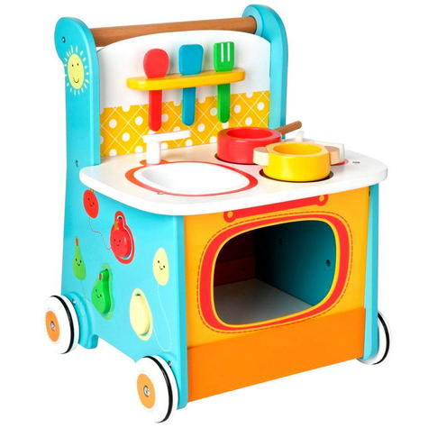 Early Learning Centre Wooden Kitchen Walker | Baby/ Kids Learning Activity Toy | +12m Thumbnail 3