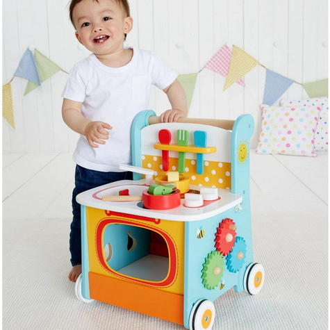 Early Learning Centre Wooden Kitchen Walker | Baby/ Kids Learning Activity Toy | +12m Thumbnail 4