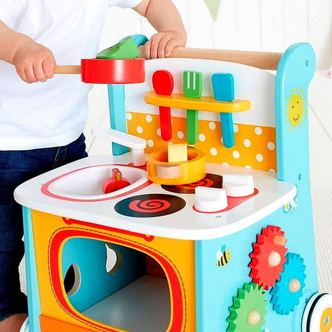 Early Learning Centre Wooden Kitchen Walker | Baby/ Kids Learning Activity Toy | +12m Thumbnail 7