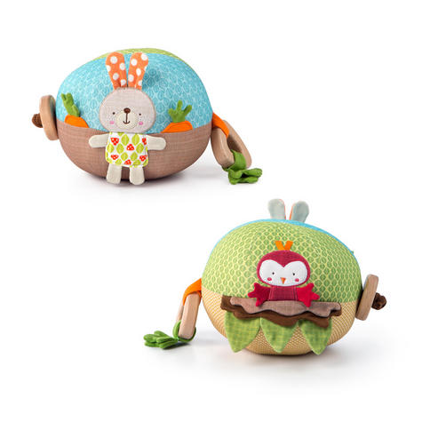 Bright Starts Garden Ball   Baby/ kid's Soft Plush Playtime Toy+Teether   With Sound   +3 Months Thumbnail 2