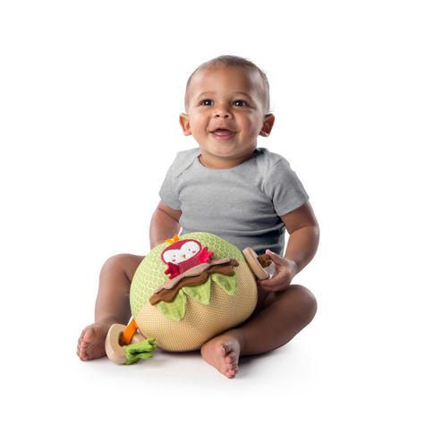 Bright Starts Garden Ball   Baby/ kid's Soft Plush Playtime Toy+Teether   With Sound   +3 Months Thumbnail 3