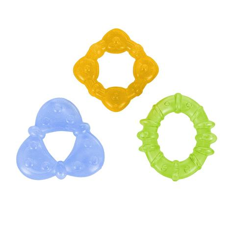 Bright Starts Chill & Teethe Teether Set | Baby's Fun Coloured Water-Filled Dummy Thumbnail 2