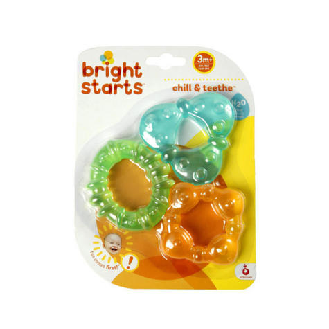 Bright Starts Chill & Teethe Teether Set | Baby's Fun Coloured Water-Filled Dummy Thumbnail 3