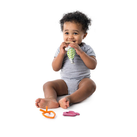 Bright Starts Simply Naturals Teether Set | Baby/ Kid's Chewy Toy/Pacifier/Soother | +3 Months Thumbnail 4