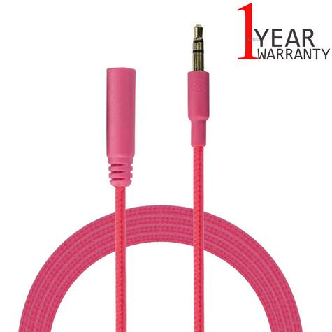 Urbanz 1M Audio Extension Durable Aux Incredi-Cable|3.5mm Corded Jack|Pink Thumbnail 1