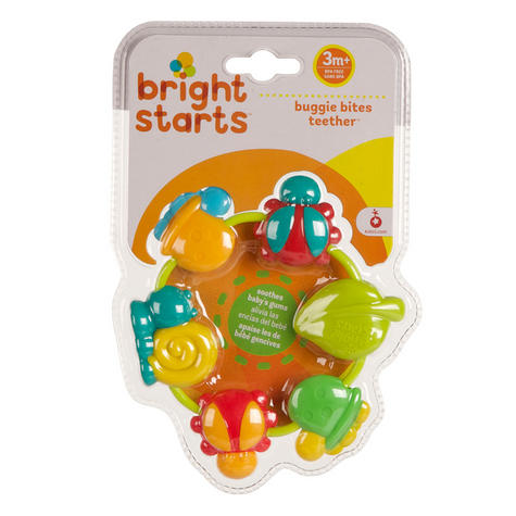 Bright Starts Buggie Bites Teether For Baby | Bright,Colorful & Teethable Beads Thumbnail 4