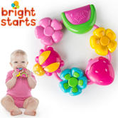 Bright Starts Pretty In Pink Buggie Bites Teether For Baby | Colorful+Easy To Hold