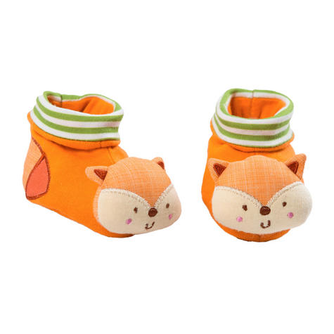 Bright Starts Simply Naturals Organic Shakin Woodland Booties   Baby's Rattles Toy   +0  Months Thumbnail 2