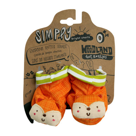 Bright Starts Simply Naturals Organic Shakin Woodland Booties   Baby's Rattles Toy   +0  Months Thumbnail 3