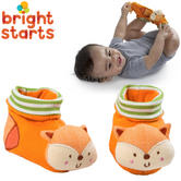 Bright Starts Simply Naturals Organic Shakin Woodland Booties | Baby's Rattles Toy | +0  Months