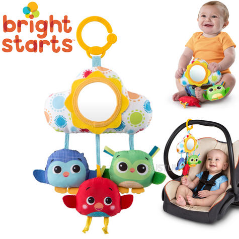 Bright Starts Cloud Pals Mobile | Kids Fun Toy | Attaches - Stroller/Carrier/Carseat Thumbnail 1