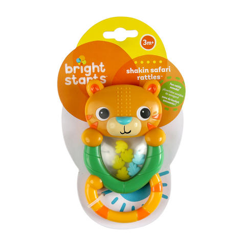 Bright Starts Shakin Safari Rattles | Colourful Baby/kid/Toodler's Toy | With Sound | +3 Months Thumbnail 5