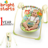 Bright Starts Up and Away Portable Kid Swing | Comfort+Swinging Fun+2 Playtime Toy