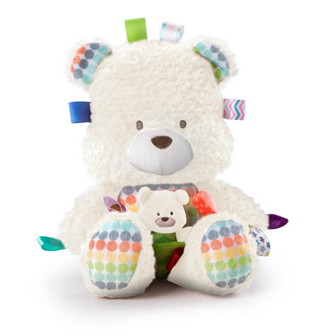 Bright Starts Taggies Snuggle & Play Bear With Chime?Baby/ Kid's Soft Teddy Toy?+0 Months Thumbnail 3
