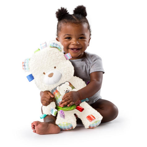 Bright Starts Taggies Snuggle & Play Bear With Chime?Baby/ Kid's Soft Teddy Toy?+0 Months Thumbnail 5
