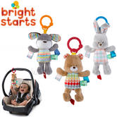 Bright Starts Taggies Attachable Plush Toy with Chime | Clip on Pram/Baby Carrier/Stroller | +0 Months