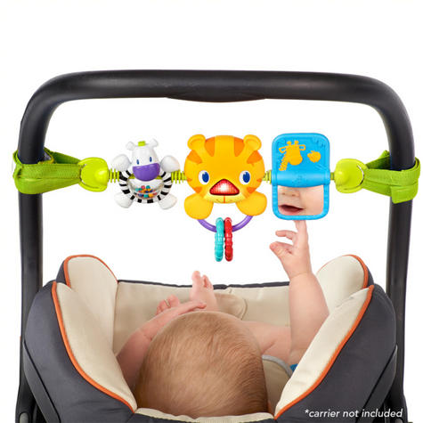 Bright Starts Take Along Kids Toy Bar | Clip on CarSeat/Carriers | With Lights+Songs Thumbnail 4