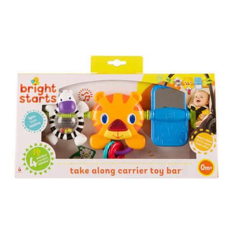 Bright Starts Take Along Kids Toy Bar | Clip on CarSeat/Carriers | With Lights+Songs Thumbnail 5