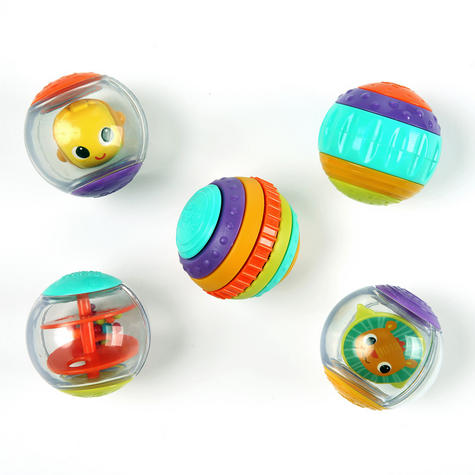 Bright Starts Shake and Spin Baby/ Kid/ Toddler's Learning Activity Balls?5PK?+3 Months Thumbnail 2