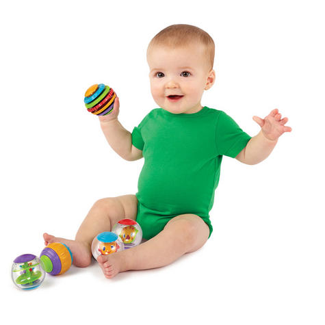 Bright Starts Shake and Spin Baby/ Kid/ Toddler's Learning Activity Balls?5PK?+3 Months Thumbnail 3
