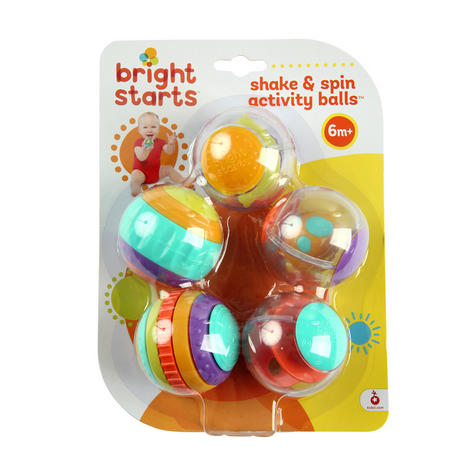 Bright Starts Shake and Spin Baby/ Kid/ Toddler's Learning Activity Balls?5PK?+3 Months Thumbnail 4