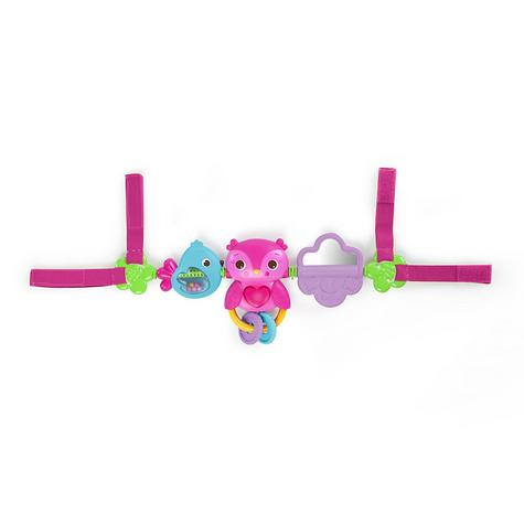 Bright Starts Busy Birdies Baby Girls Carrier Toy Bar | Clip on CarSeat/Carriers Thumbnail 2