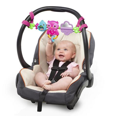 Bright Starts Busy Birdies Baby Girls Carrier Toy Bar   Clip on CarSeat/Carriers Thumbnail 3