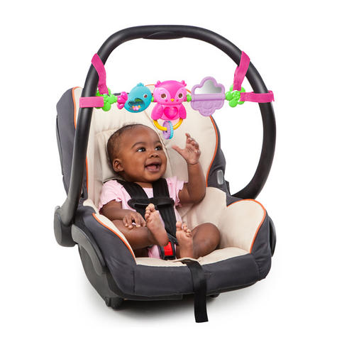 Bright Starts Busy Birdies Baby Girls Carrier Toy Bar   Clip on CarSeat/Carriers Thumbnail 4