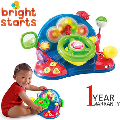 Bright Starts Lights & Colours Driver | Baby/Kids Learning Activity Toy With Music Thumbnail 1