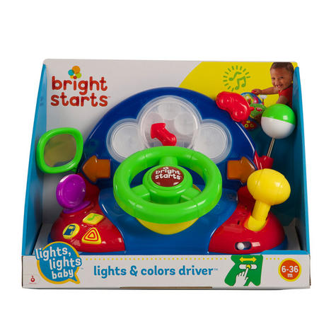 Bright Starts Lights & Colours Driver | Baby/Kids Learning Activity Toy With Music Thumbnail 4