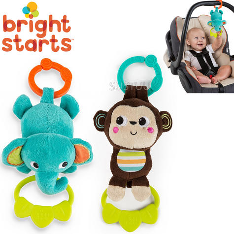Bright Starts Tug Tunes | Clip On Pram/ Pushchair/ Baby Carrier | With 4 Fun Melodies | +0 Months Thumbnail 1