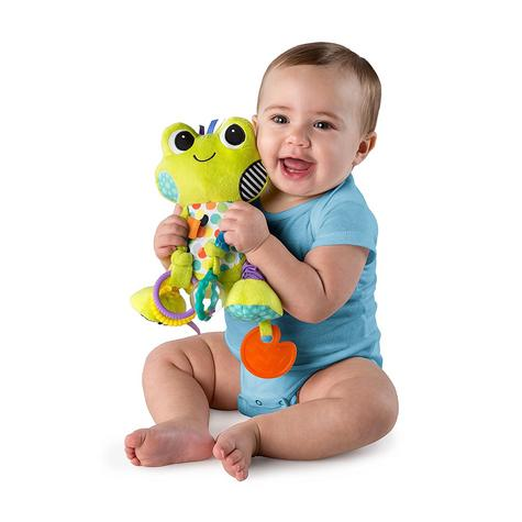 Bright Starts Bunch O Fun- 2 Characters | Baby/Kid/Toddlers Soft Plush Toy+Teether | +0 Months Thumbnail 3