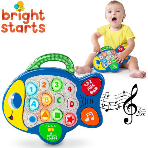 Bright Starts Learn and Giggle Fish | Baby/Kids Activity Toy With Sounds & Lghts Thumbnail 1