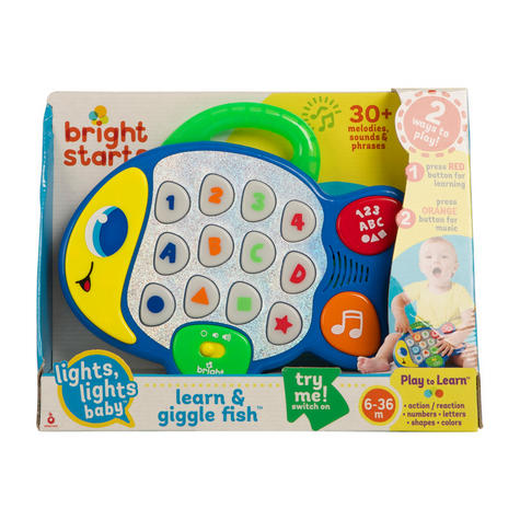 Bright Starts Learn and Giggle Fish | Baby/Kids Activity Toy With Sounds & Lghts Thumbnail 4