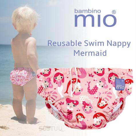Bambino Mio Reusable Kid Swim Nappy Mermaid|Water Resist Layer|Soft Cotton|6-12m Thumbnail 1