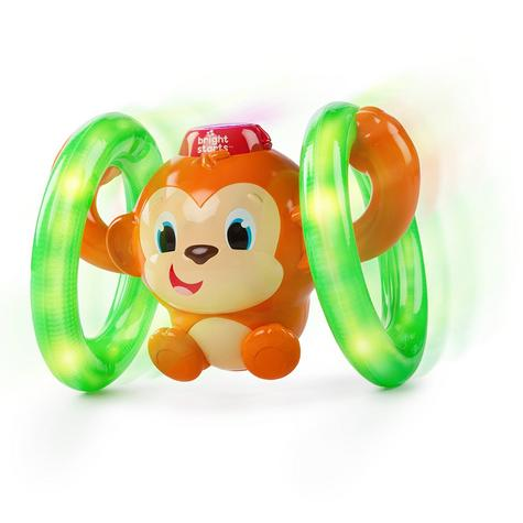 Bright Starts Learn Roll & Glow Monkey | Baby/Kids Activity Toy With Lightup Wheel Thumbnail 2