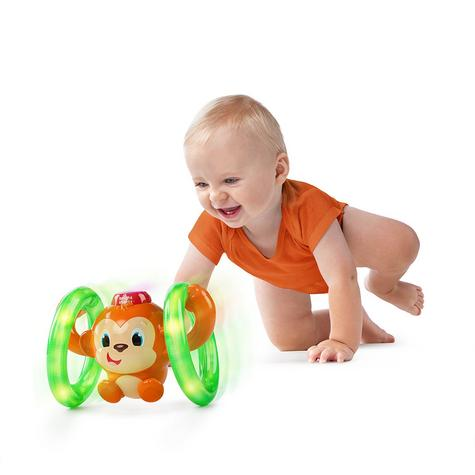 Bright Starts Learn Roll & Glow Monkey | Baby/Kids Activity Toy With Lightup Wheel Thumbnail 3