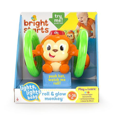 Bright Starts Learn Roll & Glow Monkey | Baby/Kids Activity Toy With Lightup Wheel Thumbnail 4
