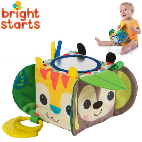 Bright Starts Jungle Activity Block | Baby/ Kid's Soft Toy | With Music & Mirror | +3 Months Thumbnail 1